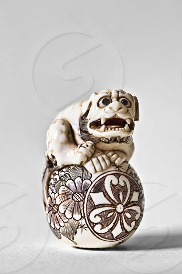 Image of a hand crafted ivory netsuke photo