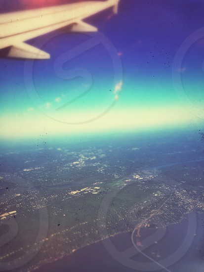 The view from above. Taking a trip to a new place with new adventures and making new memories.  photo