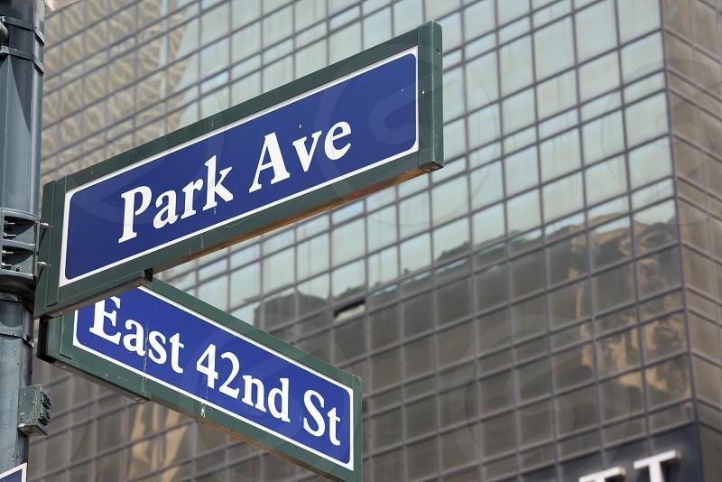 new york street sign: Park Avenue photo