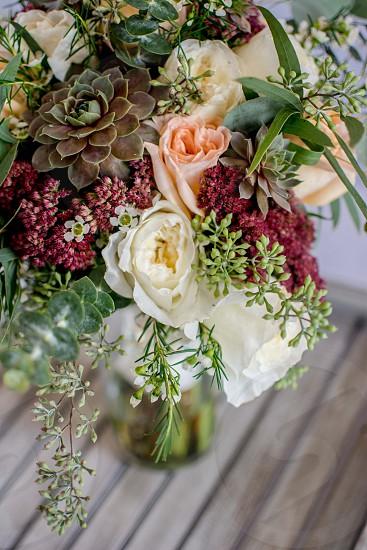 Stunning floral arrangement with wonderful texture. photo
