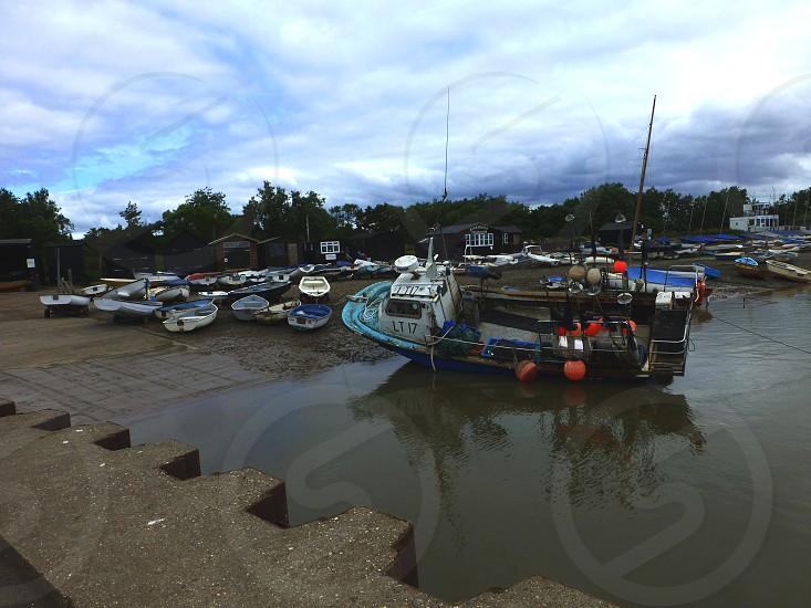 Fishing Boats Orford Essex United Kingdom photo