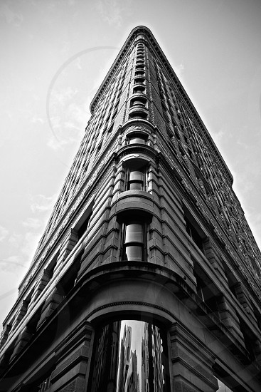 black and white building photo photo