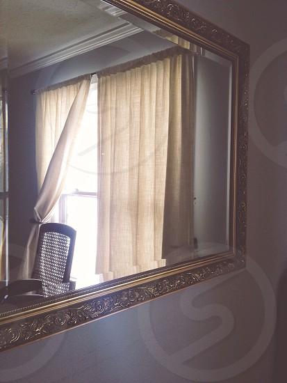 white curtains photo