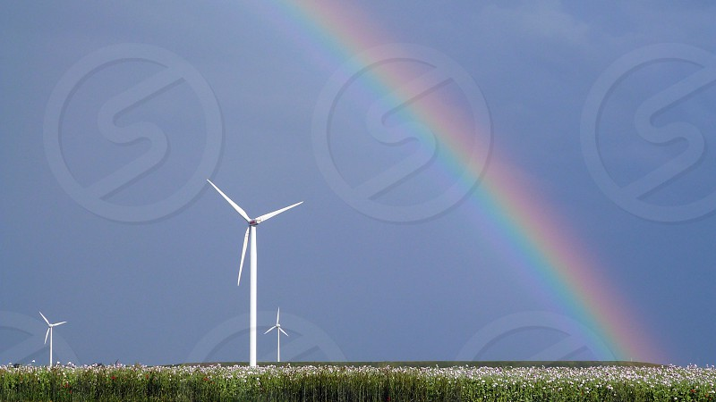 Windmill Mother Nature thunderstorms Kansas respect responsibility weather accountability  photo