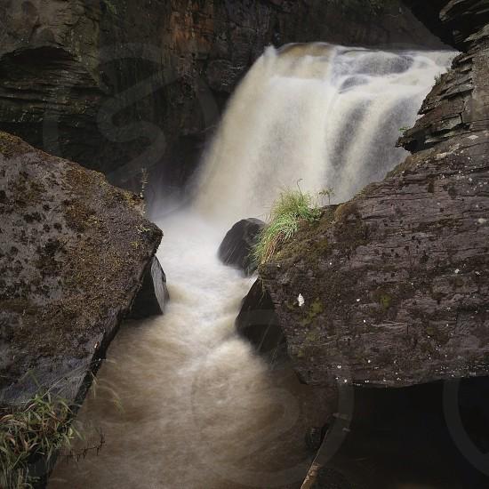 rocky waterfall photo