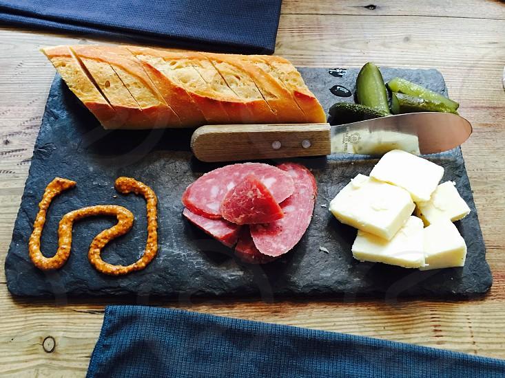 Food at wine bar photo