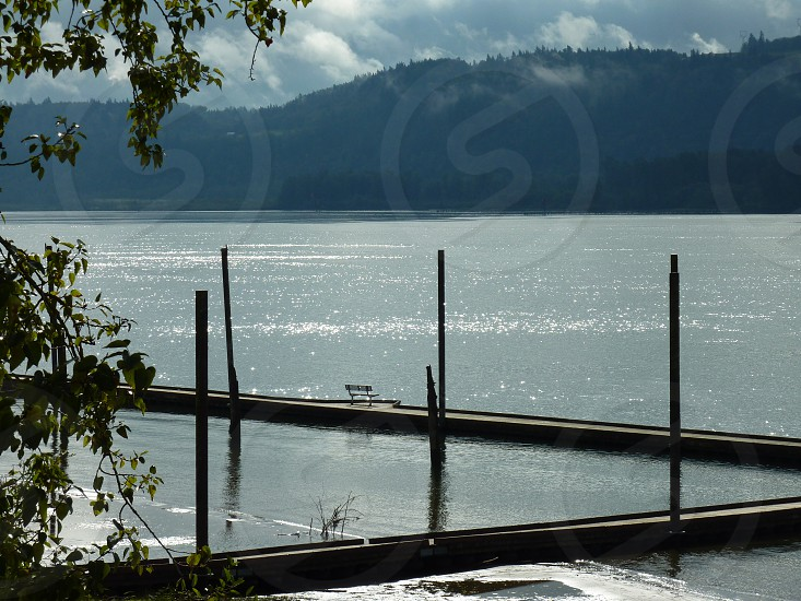 bench on the dock - I want to be there photo
