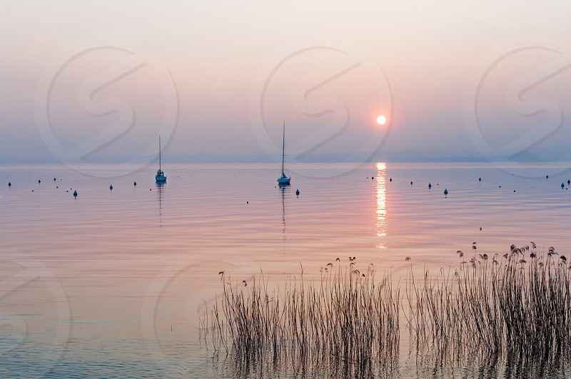 View at Garda lake Italy photo