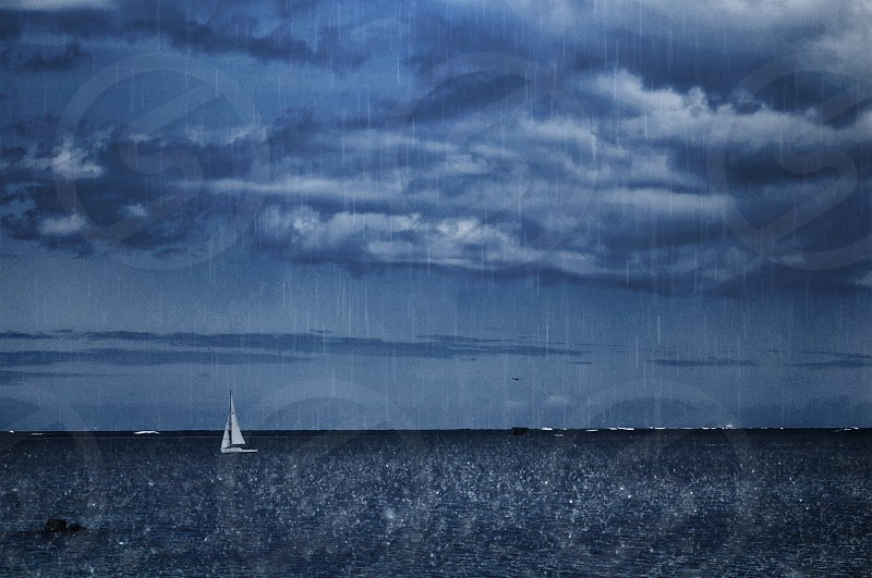 Storm Pacific Ocean Sail Boat photo