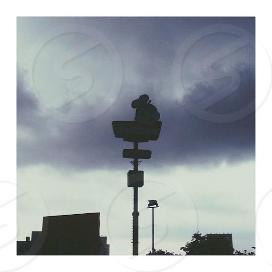 Local weather dark eerie creepy sign Philippines photo