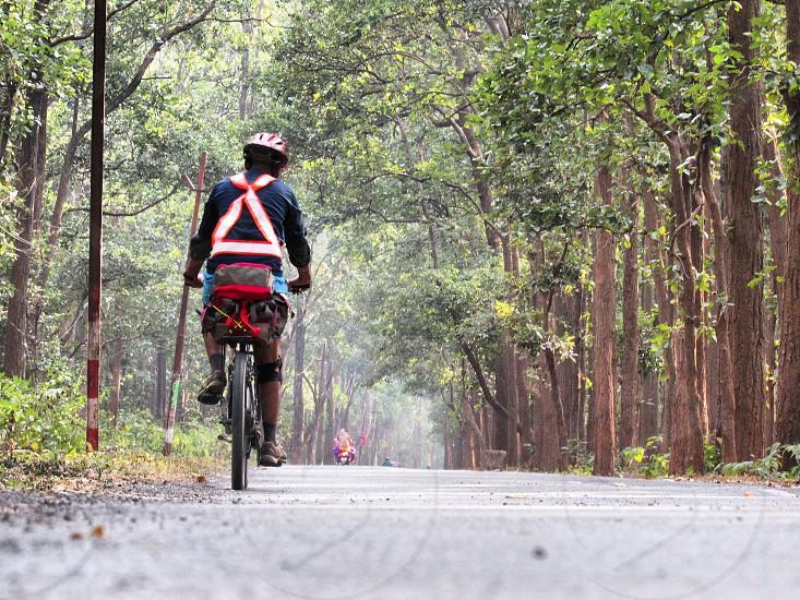 mountain biking photo