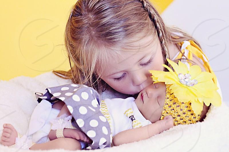 Alyssa and baby sister Alayna photo
