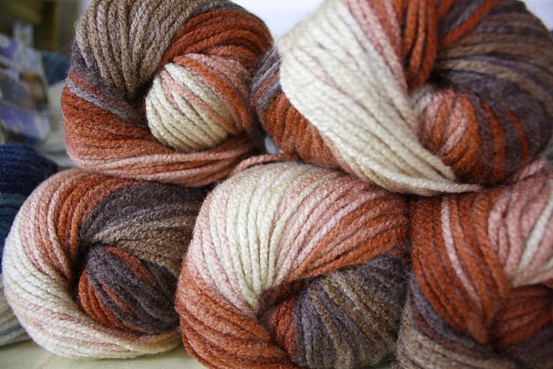 Colored yarn photo