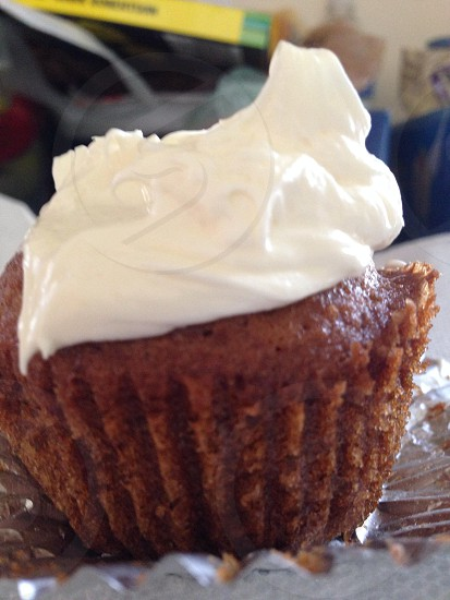 Pumpkin cupcake  photo