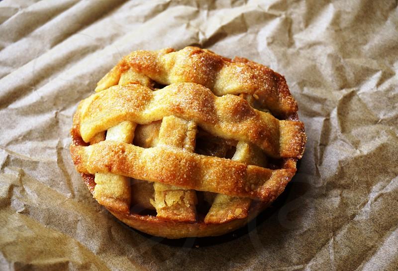 Mini apple pie with a lattice crust in New Jersey photo