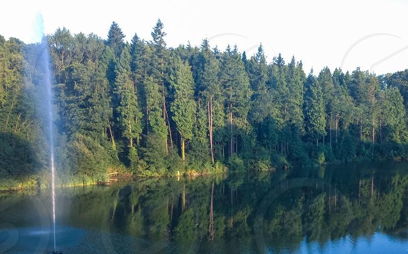 Summertime at lake lodge photo