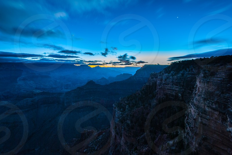 Blue hour over the Grand Canyon photo