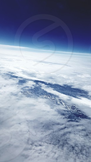iceland airlines flight  35000 Ft Northern Hemisphere out of Plane Window photo