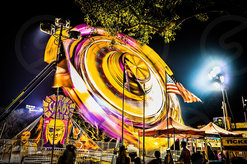 Vomitron - A capture of the movement of a carnival ride. photo