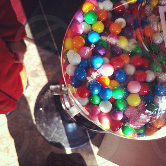 gumball machine candy store photo