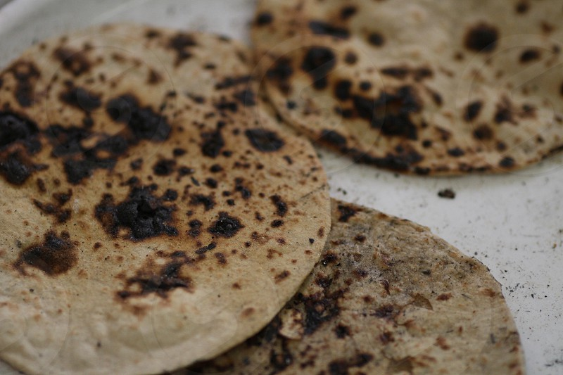 Roti chapati naan wheat flour tortilla  photo