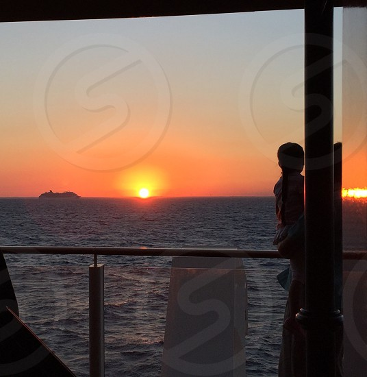 Sunset ocean cruise cruise ship photo