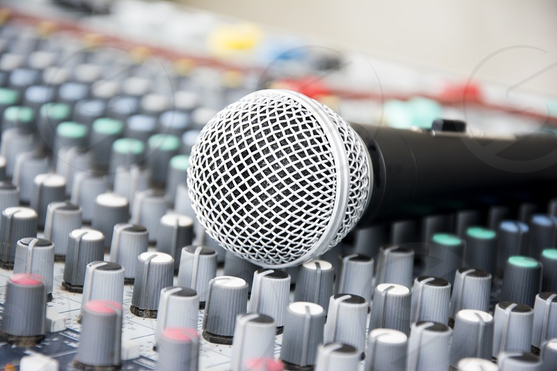 Microphone on a console photo