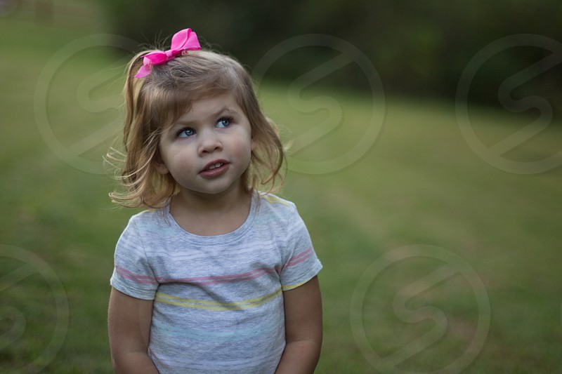 Toddler Girl Expression photo