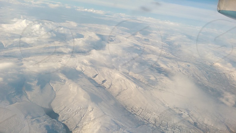 scottish mountains from a plane photo