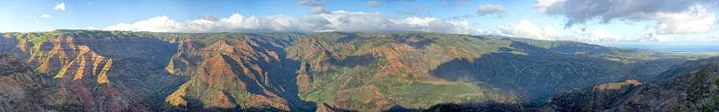 Huge landscape of Waimea Canyon in Hawaii photo