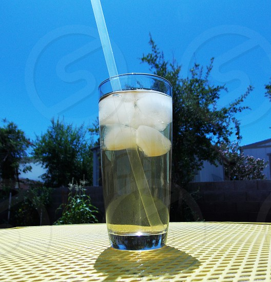 Iced Tea and Blue Sky photo