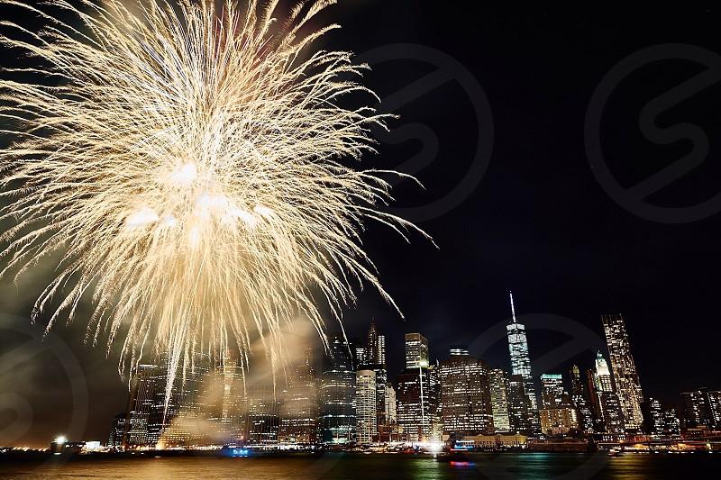 fireworks at night photo