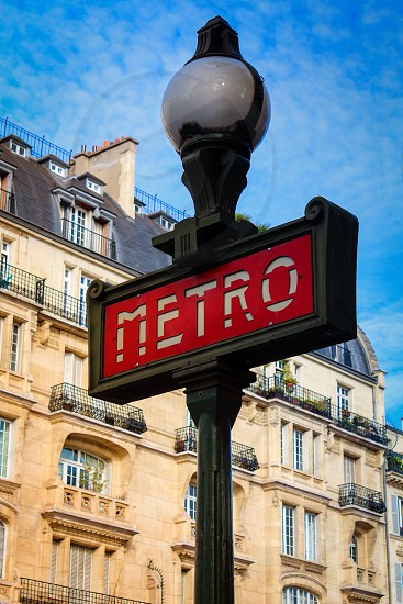 Paris metro travel France underground style photo