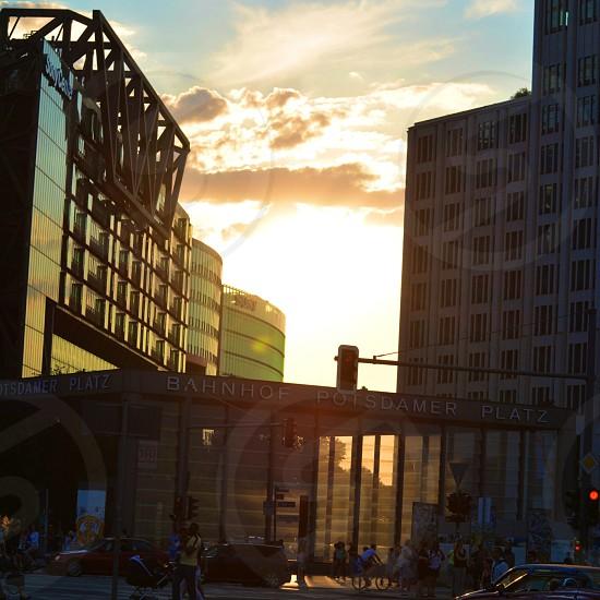 Berlin Potsdamer platz Sonnenuntergang photo