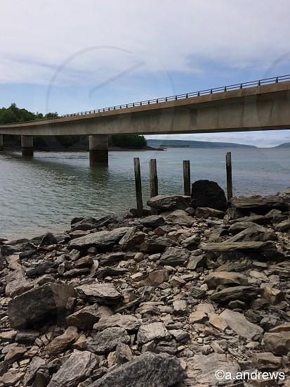 Bridge Nova Scotia beach ocean photo