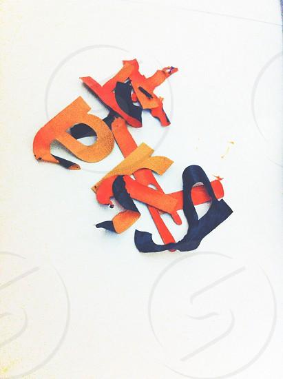 Orange Sticky Cutout Letters photo