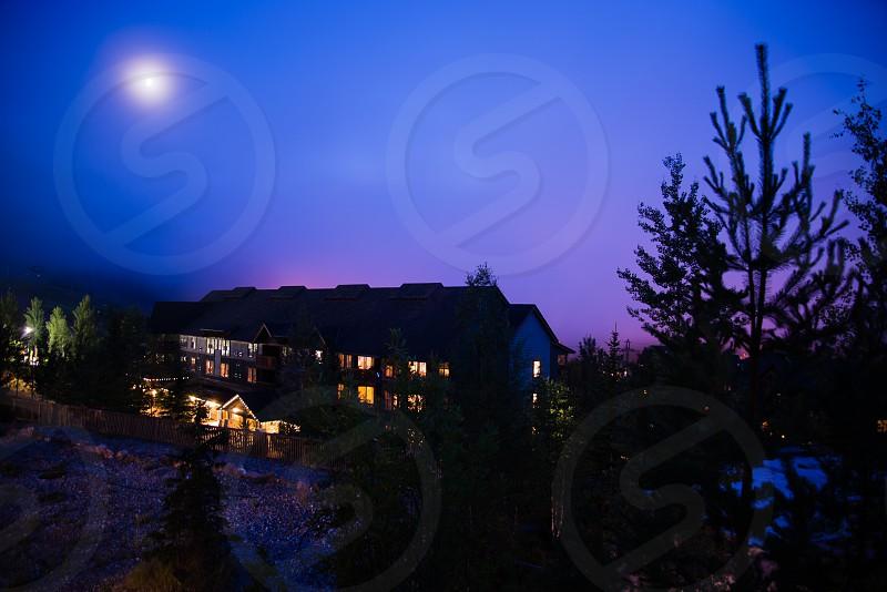 Foggy Night in Panorama BC Canada photo
