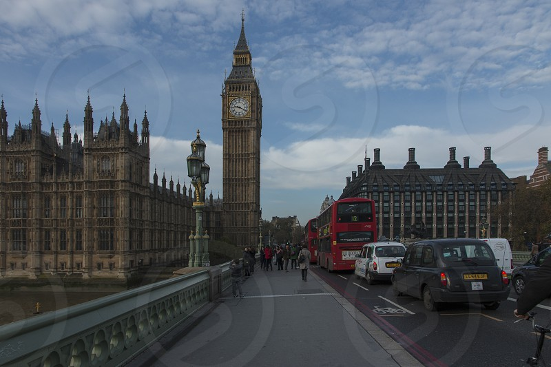 Big Ben seen from the South Side of Westminster Bridge. photo