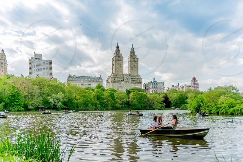The lake at Central Park New York photo