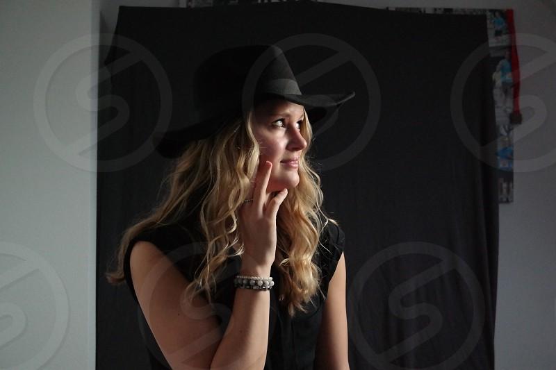Woman portrait hat photo
