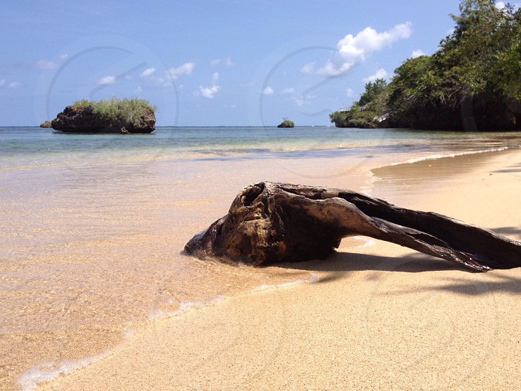...the clear water from a private beach in Jamaica..   photo
