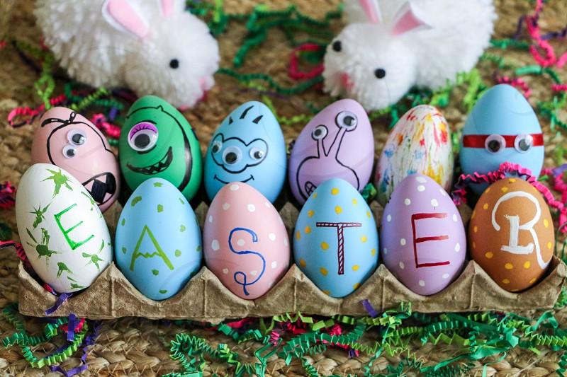 Happy Easter... Easter eggsmonster faceninja facedecoration  photo