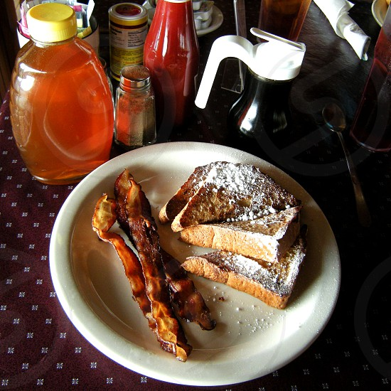 French toast and bacon photo