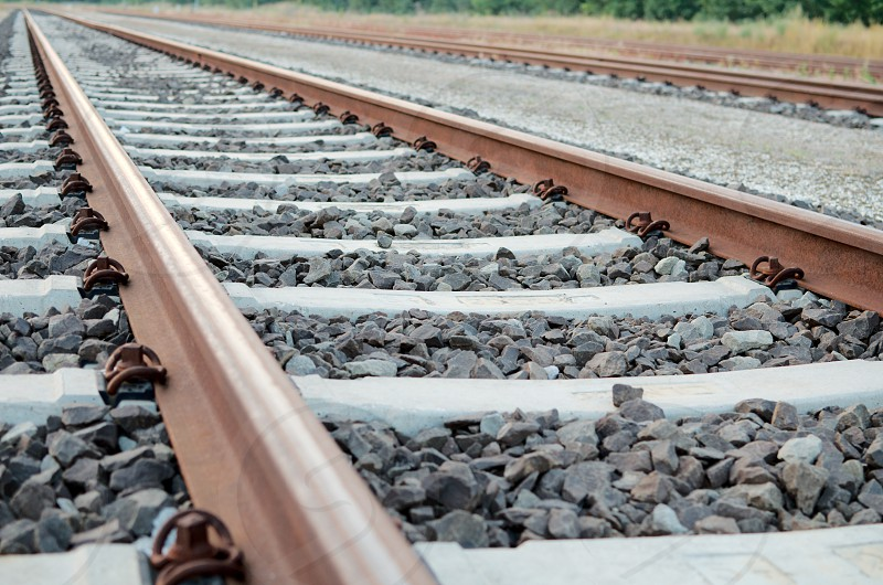 Railway Tracks with no Trains on Them Close-up photo