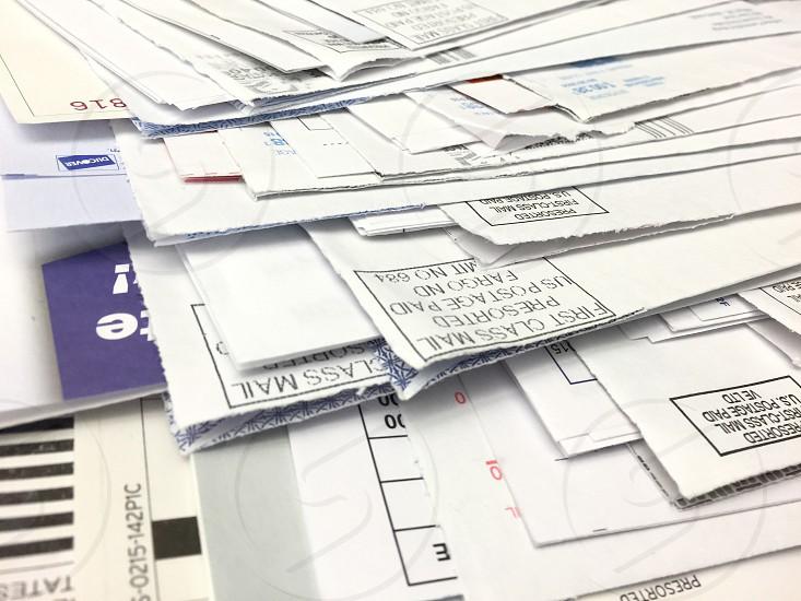 stacked mail envelopes photo