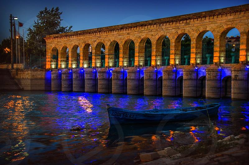 The stone bridge in Beyşehir Turkey. photo