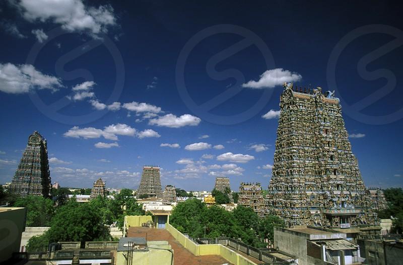 The Sri Meenakshi Temple in the city of   Madurai in Tamil Nadu in India. photo