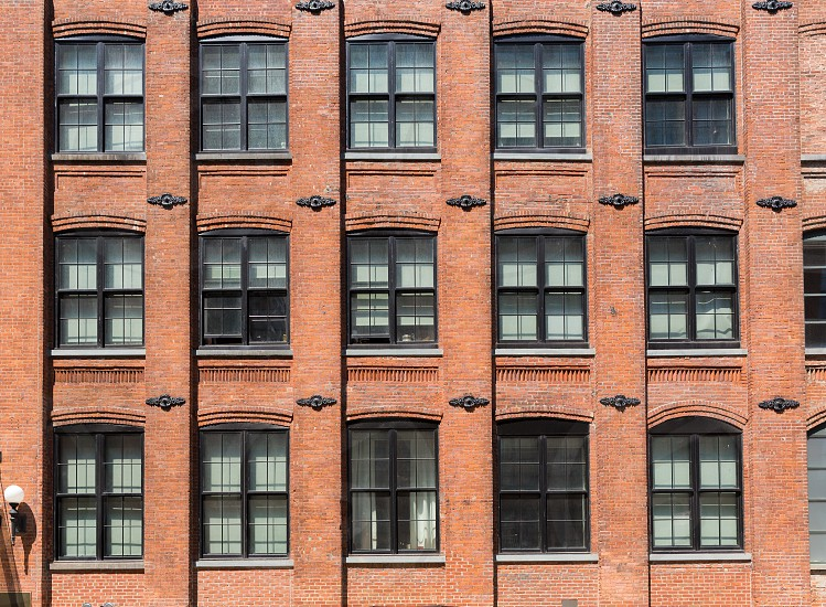 Brooklyn brickwall facades in New York US photo