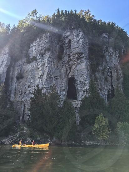Kayaking with friends Door County Wisconsin photo