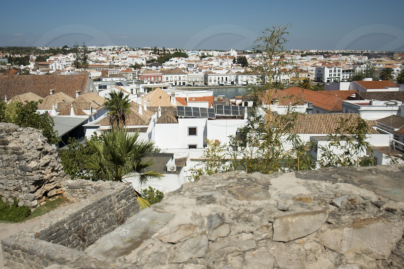 the old town of Tavira at the east Algarve in the south of Portugal in Europe. photo